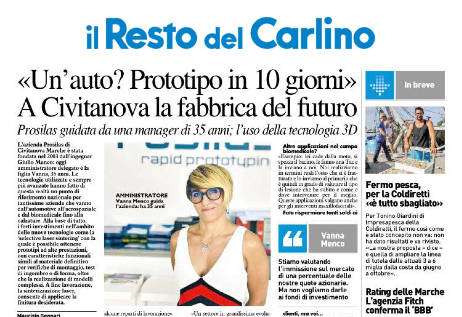 Il resto del Carlino talk about us
