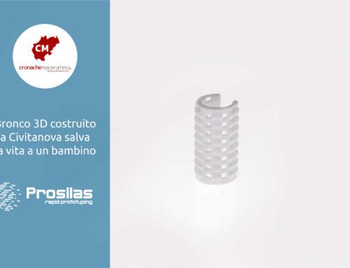 Bronco in 3D costruito a Civitanova salva la vita a un bambino