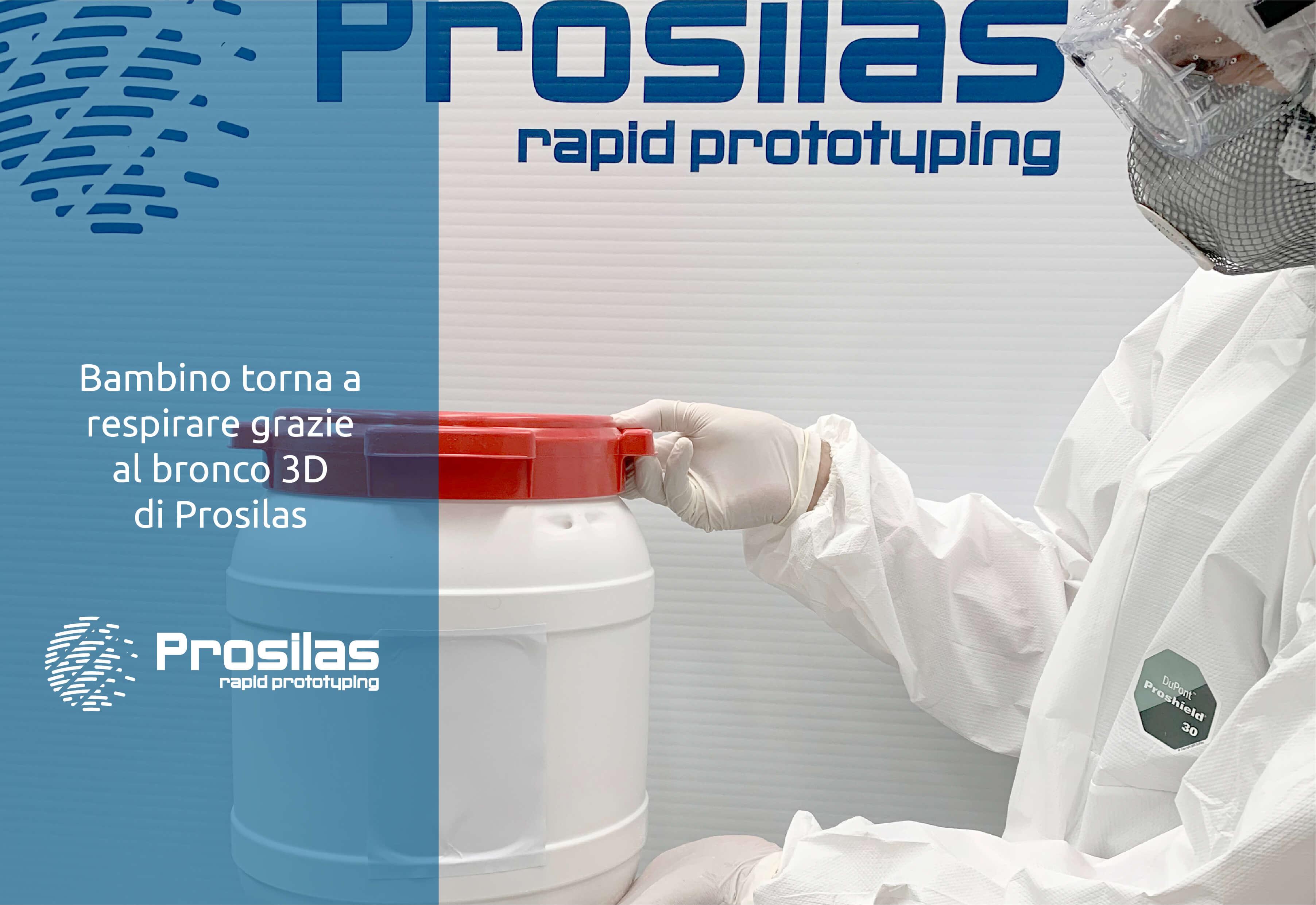 Bambino torna a respirare  grazie al bronco 3D di Prosilas