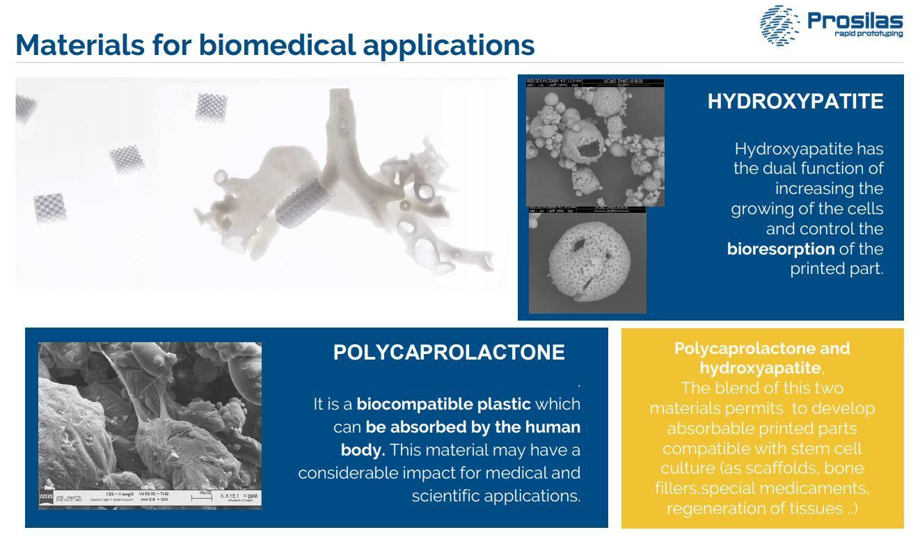 Stampa 3d materiale biocompatibile